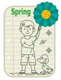 Segno del ragazzo della primavera fotografia stock