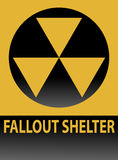 Segno del riparo di precipitazione radioattiva Immagine Stock Libera da Diritti