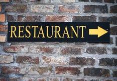 Segno del ristorante Immagini Stock Libere da Diritti