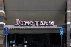 Segno del ristorante di Ding Tea fotografia stock libera da diritti