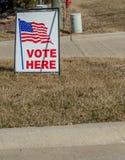 Segno del seggio elettorale fotografie stock
