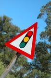 Segno del semaforo Immagini Stock