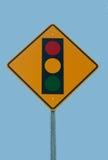 Segno del semaforo Fotografia Stock