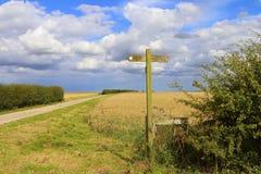 Segno del sentiero per pedoni Fotografie Stock