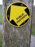 Segno del sentiero per pedoni Fotografia Stock
