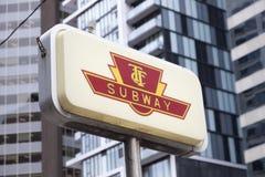 Segno del sottopassaggio di Toronto Fotografie Stock Libere da Diritti