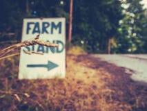 Segno del supporto dell'azienda agricola Fotografie Stock