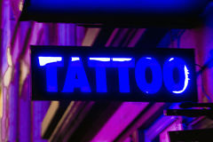 Segno del tatuaggio Immagine Stock