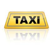 Segno del taxi Fotografie Stock