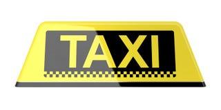 Segno del taxi Fotografia Stock Libera da Diritti