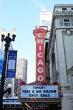 Segno del teatro del Chicago Immagine Stock