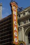 Segno del teatro del Chicago Fotografie Stock