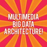 Segno del testo che mostra architettura di Big Data di multimedia Tono online della foto due dello sprazzo di sole della rete di  illustrazione vettoriale