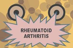 Segno del testo che mostra artrite reumatoide Malattia autoimmune della foto concettuale che può causare i dolori articolari ed i royalty illustrazione gratis