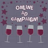 Segno del testo che mostra campagna pubblicitaria online Lo sforzo di commercializzazione concettuale della foto presentato dall' royalty illustrazione gratis