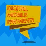 Segno del testo che mostra a Digital pagamento mobile Modo concettuale della foto del pagamento che ha fatto attraverso la strisc illustrazione di stock