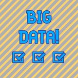Segno del testo che mostra i grandi dati E illustrazione di stock