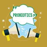 Segno del testo che mostra i probiotici Il microrganismo in tensione dei batteri della foto concettuale ha ospitato nel corpo per illustrazione vettoriale