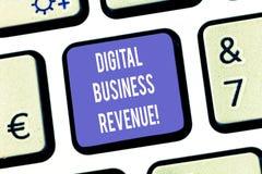 Segno del testo che mostra il reddito di affari di Digital Reddito concettuale della foto dalle vendite digitali o dalla chiave d immagine stock
