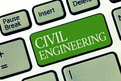 Segno del testo che mostra ingegneria civile Costruzione concettuale di progettazione di pianificazione della foto degli edifici  immagini stock