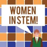 Segno del testo che mostra le donne nel gambo Scienziato concettuale Research di matematica di ingegneria di tecnologia di scienz illustrazione vettoriale