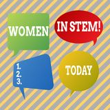 Segno del testo che mostra le donne nel gambo Scienziato concettuale Research di matematica di ingegneria di tecnologia di scienz illustrazione di stock