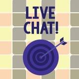 Segno del testo che mostra Live Chat Conversazione concettuale della foto sulla comunicazione su mezzi mobili di multimedia di In illustrazione vettoriale