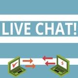 Segno del testo che mostra Live Chat Conversazione in tempo reale di media della foto concettuale online comunicare le icone dell illustrazione vettoriale