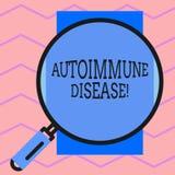 Segno del testo che mostra malattia autoimmune I tessuti concettuali del corpo della foto sono attaccati dal suo proprio giro del illustrazione vettoriale