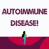 Segno del testo che mostra malattia autoimmune I tessuti concettuali del corpo della foto sono attaccati dal suo proprio sistema  illustrazione vettoriale