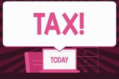 Segno del testo che mostra tassa Pagamento obbligatorio della foto concettuale delle tasse mostrando allo spazio in bianco del re illustrazione vettoriale