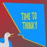 Segno del testo che mostra tempo di pensare Idee di progettazione di pensiero della foto concettuale che rispondono alle domande royalty illustrazione gratis