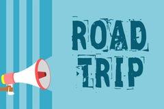 Segno del testo che mostra viaggio stradale Foto concettuale che vaga intorno ai posti senza il loudspeake definito o esatto del  illustrazione di stock