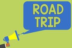 Segno del testo che mostra viaggio stradale Foto concettuale che vaga intorno ai posti senza il megaphon definito o esatto della  illustrazione vettoriale