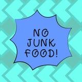 Segno del testo che non mostra alimenti industriali Le cose non sane della foto del cibo concettuale di arresto cominciare una di royalty illustrazione gratis