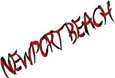 Segno del testo della spiaggia di Newport Immagine Stock Libera da Diritti