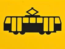 Segno del tram Fotografia Stock