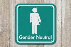 Segno del transessuale con la persona neutrale di genere del testo fotografie stock