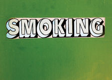 Segno del trasporto di fumo Immagini Stock