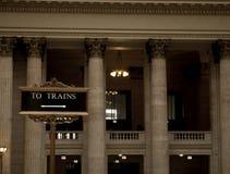 segno del treno Fotografia Stock Libera da Diritti