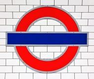 Segno del tubo di Londra Fotografie Stock Libere da Diritti