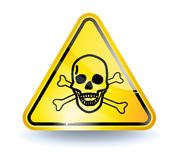 Segno del veleno Immagini Stock