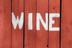Segno del vino Fotografie Stock Libere da Diritti