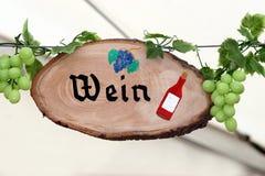 Segno del vino Fotografia Stock Libera da Diritti