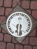 Segno del violino Fotografie Stock