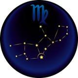 Segno del Virgo dello zodiaco Fotografie Stock Libere da Diritti