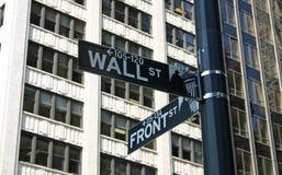Segno del Wall Street Fotografia Stock