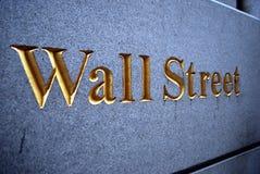 Segno del Wall Street Fotografia Stock Libera da Diritti