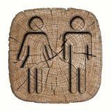Segno del WC per gli uomini delle donne 3d Fotografie Stock Libere da Diritti