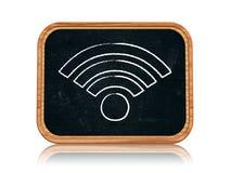 Segno del Wi-Fi Fotografia Stock Libera da Diritti